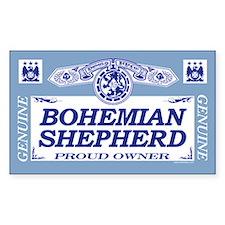 BOHEMIAN SHEPHERD Rectangle Decal