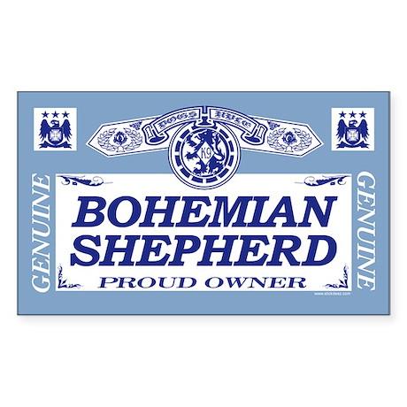 BOHEMIAN SHEPHERD Rectangle Sticker