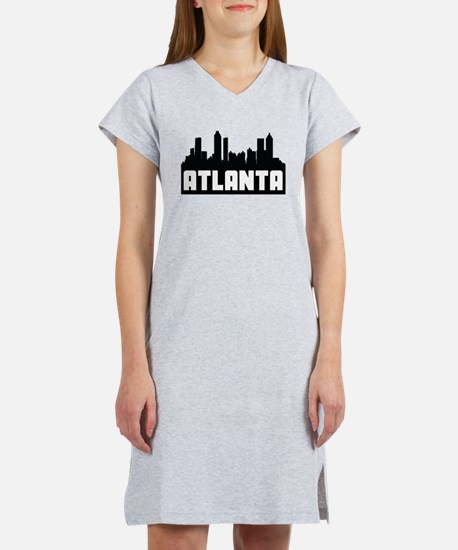 Atlanta Georgia Skyline Women's Nightshirt
