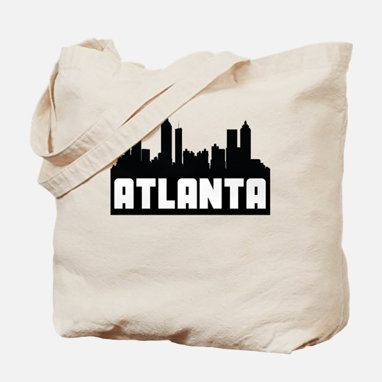 Atlanta Georgia Skyline Tote Bag