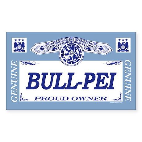BULL-PEI Rectangle Sticker