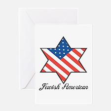 Jewish American Star Greeting Card