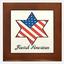 Jewish American Star Framed Tile