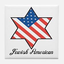 Jewish American Star Tile Coaster