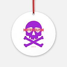 Materialism, purple - Ornament (Round)