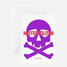 Materialism, purple - Greeting Card