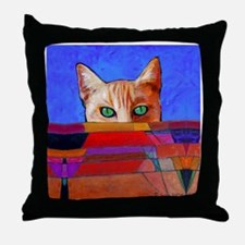 Cat of Mystery Throw Pillow