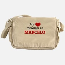 My heart belongs to Marcelo Messenger Bag