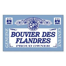 BOUVIER DES FLANDRES Rectangle Decal