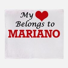 My heart belongs to Mariano Throw Blanket
