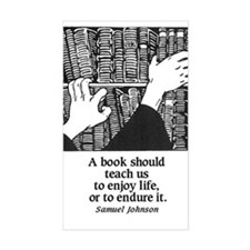 Books, Enjoy or Endure Rectangle Decal