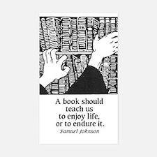Books, Enjoy or Endure Rectangle Decal
