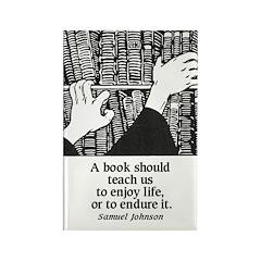 Books, Enjoy or Endure Rectangle Magnet (10 pack)