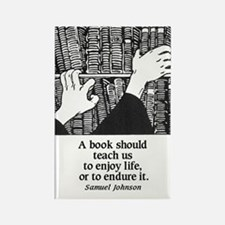 Books, Enjoy or Endure Rectangle Magnet