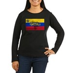 Venezuela Flag Extra Women's Long Sleeve Dark T-Sh