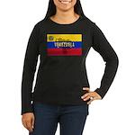Venezuela Flag Extra Women's Long Sleeve Dark T-Sh