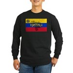 Venezuela Flag Extra Long Sleeve Dark T-Shirt
