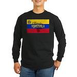 Venezuela Flag Extra Long Sleeve Dark T-Shirt