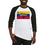 Venezuela Flag Extra Baseball Jersey