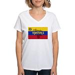 Venezuela Flag Extra Women's V-Neck T-Shirt