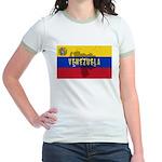 Venezuela Flag Extra Jr. Ringer T-Shirt