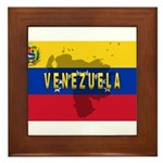 Venezuela Flag Extra Framed Tile