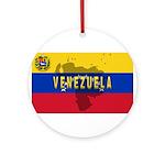 Venezuela Flag Extra Ornament (Round)
