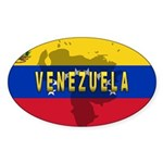 Venezuela Flag Extra Oval Sticker