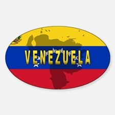 Venezuela Flag Extra Oval Decal