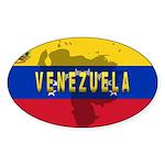 Venezuela Flag Extra Oval Sticker