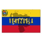 Venezuela Flag Extra Rectangle Sticker