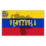 Venezuela Flag Extra Rectangle Sticker