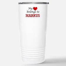 My heart belongs to Mar Stainless Steel Travel Mug
