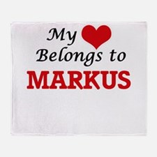 My heart belongs to Markus Throw Blanket