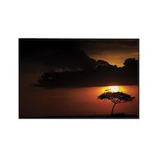 SUNSET OVER THE MARA Rectangle Magnet