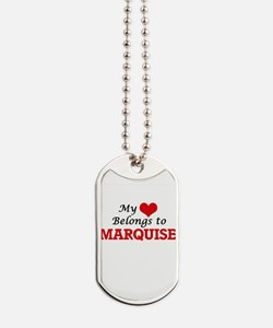My heart belongs to Marquise Dog Tags