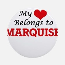 My heart belongs to Marquise Round Ornament