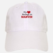 My heart belongs to Marvin Baseball Baseball Cap