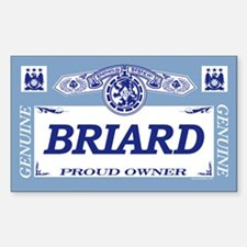 BRIARD Rectangle Decal