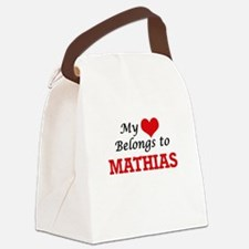 My heart belongs to Mathias Canvas Lunch Bag