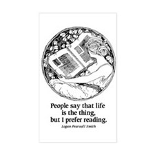 Prefer Reading Rectangle Decal
