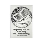 Prefer Reading Rectangle Magnet