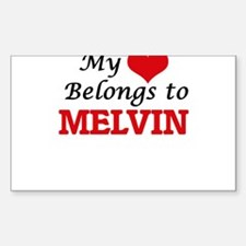 My heart belongs to Melvin Decal