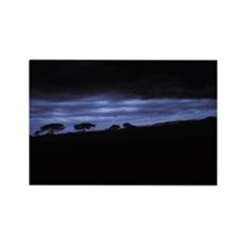 DEEP BLUE SUNSET IN THE MARA Rectangle Magnet