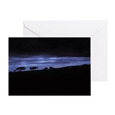 DEEP BLUE SUNSET IN THE MARA Greeting Card