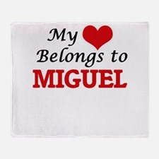 My heart belongs to Miguel Throw Blanket