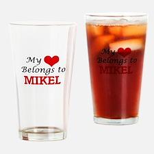 My heart belongs to Mikel Drinking Glass
