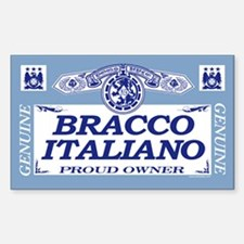 BRACCO ITALIANO Rectangle Decal