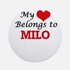 My heart belongs to Milo Round Ornament