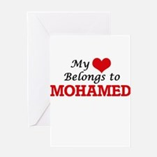 My heart belongs to Mohamed Greeting Cards